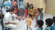 Alms giving ceremony -Mallika children's Orphanage